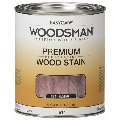 Woodsman Interior Stain, Oil Base, Red Chestnut, Qt.