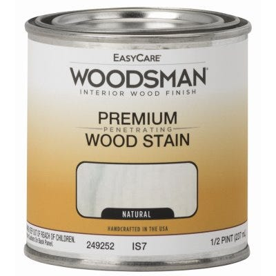 Woodsman Interior Stain, Oil Base, Natural, 1/2-Pt.