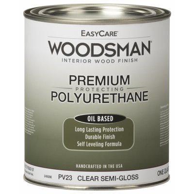 Woodsman Fast Dry Varnish Polyurethane Interior Wood Finish, Oil Base, Clear Semi-Gloss, Qt.