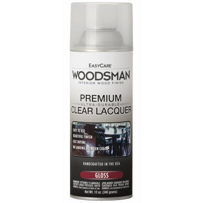 Woodsman Lacquer, Protective Finish For Wood & Metal, Clear Gloss, 12-oz. Spray
