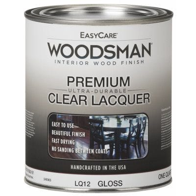 Woodsman Lacquer, Protective Finish For Wood & Metal, Clear Gloss, Qt.