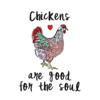 Tin Metal Sign, Chickens Are Good For The Soul, 12 x 16-In.