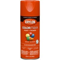 COLORmaxx Spray Paint + Primer, Gloss Banner Red, 12-oz.