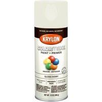 COLORmaxx Spray Paint + Primer, Gloss Ivory, 12-oz.