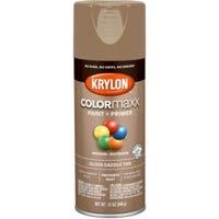 COLORmaxx Spray Paint + Primer, Gloss Saddle Tan, 12-oz.