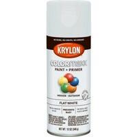 COLORmaxx Spray Paint + Primer, Flat White, 12-oz.