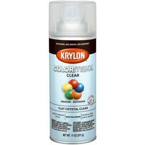 COLORmaxx Spray Paint, Clear Flat, 12-oz.