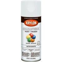 COLORmaxx Spray Paint + Primer, Satin White, 12-oz.