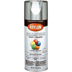 COLORmaxx Spray Paint + Primer, Metallic Silver, 12-oz.