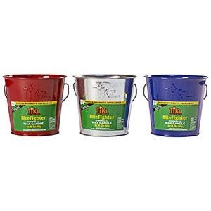 Bitefighter Citronella Wax Candle Metal Bucket, Red, Blue or Galvanized, 17-oz.