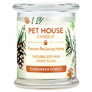 One Fur All Candle, Evergreen Forrest  Scent, 8.5-oz.