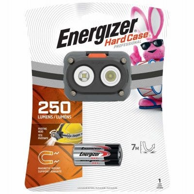Hard Case Magnetic Headlamp, 250 Lumens, 2 Light Modes