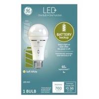 LED+  Battery Back Up Bulb, A21, 760 Lumens, 8-Watt