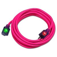Pro Glo Extension Cord, Pink, 14/3, 25-Ft.
