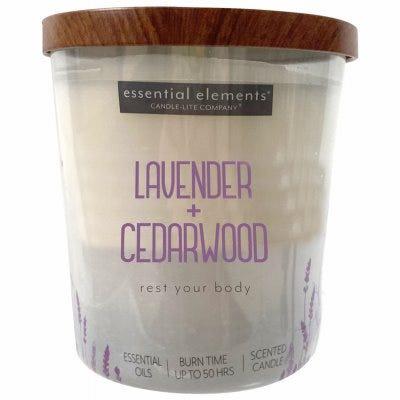 Essential Elements Jar Candle, Lavender & Cedarwood, 9-oz.