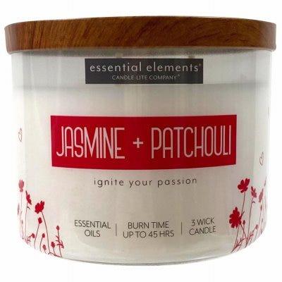 Essential Elements 3-Wick Jar Candle, Jasmine & Patchouli, 14.75-oz.