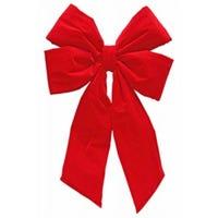 Christmas Bow, Commercial-Size, Red Velvet, 24 x 33-In.