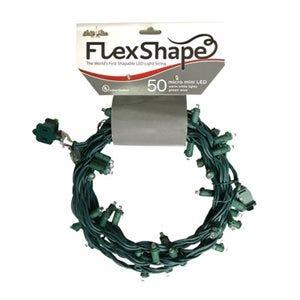 Flex-Shape LED Christmas Light Set, Mini, Pure White, 50-Ct.