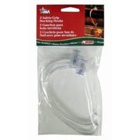 Safety Grip Stocking Hooks, Clear, 2-Ct.