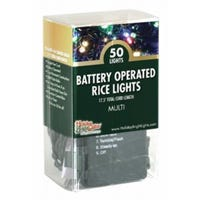 LED Rice Light Set, Multi-Color, Battery-Operated, 50-Ct.