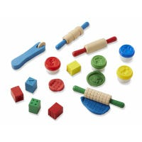 Shape Model & Mold Play Clay & Wooden Tools