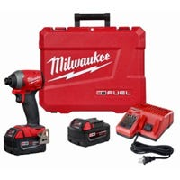 M18 18-Volt Fuel Hex Impact Driver Kit, Brushless Motor, 1/4-In., 2 Lithium-Ion Batteries
