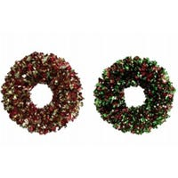 Christmas Wreath, Sparkle Elegance, Assorted Colors, 15-In.