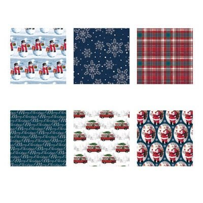 Christmas Gift Wrap, Traditional, 30-In. x 14-Ft.
