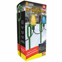 Light Stakes, Easy-Push, 10-In., 25-Ct.