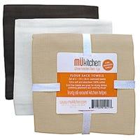 Cafe Flour Sack Towels, 100% Cotton, 24 x 36-In., 3-Pk.