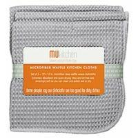 Microfiber Dishcloths, Storm Gray, 12 x 12-In., 3-Pk.