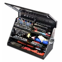 Portable Tool Box, Black, 30 x 15-In.