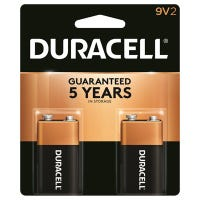 Alkaline Batteries, 9V, 2-Pk.