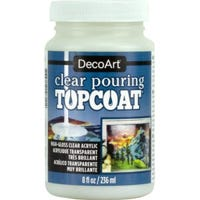 Pouring Medium Topcoat, Clear, 8-oz.