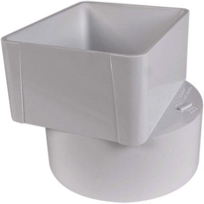 PVC Offset Downspout Adapter, 3 x 4 x 4-In.