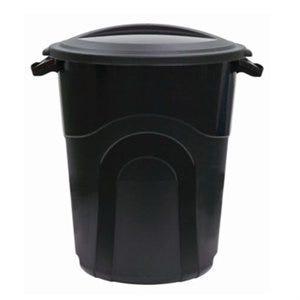 Trash Can, Molded Black, 20-Gal.