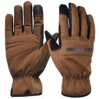 Utility Work Gloves, Brown Duck Canvas, Men's Medium