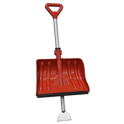 Snow Shovel & Ice Scraper, Dual Position Head