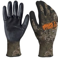 Work Gloves, Polymer Coated, Wildland Pattern, Men's XL