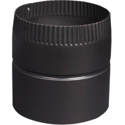 Image of Black Stove Pipe Drip-Free Adapter, 24-Ga., 6 x 6-In.