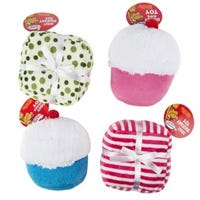 Dog Toy, Plush Squeaker, Assorted