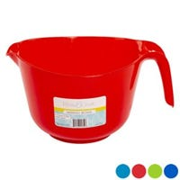 Mixing Bowl With Handle, Assorted Colors, Plastic, 3-Qts.