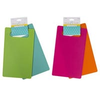 Cutting Board, Plastic, Assorted Colors, 2-Pk.