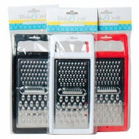 Flat Food Grater, Assorted Colors, 10-In.