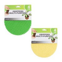 Gripper Pad, 5.5-In. Round, Assorted Colors, 4-Pk.