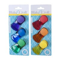 Bag Clip, Magnetic, Assorted Colors, 3-Pk.