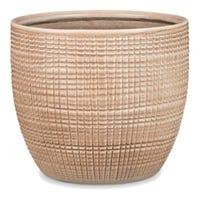Planter, Indoor, Canela Tan Ceramic, 5.5 x 4.75-In.