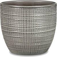 Planter, Indoor, Pimienta Gray Ceramic, 5.5 x 4.75-In.