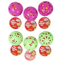 Dog Toy, Ball, Assorted Colors, 3-In.