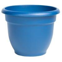 Ariana Planter, Self-Watering, Classic Blue Plastic, 12-In.